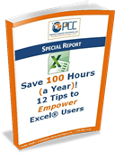 Free Excel ebook - 12 Tips to Empower Excel Users