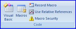 Excel VBA & Macros - Excel 2007 Code Group