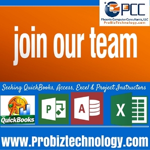 Seeking Instructors Project Excel Quickbooks Atlanta